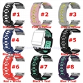 For Fitbit ionic Dual Colors replacement silicone wristband silicone wrist strap