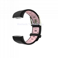 For Fitbit Charg 2 Square Hole Dual Colors replacement silicone wristband