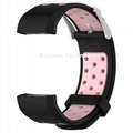 For Fitbit Charg 2 Round Hole Dual Colors replacement silicone wristband