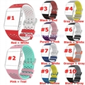 For Fitbit ionic Dual Color Round Mesh Silicone wrist band replacement