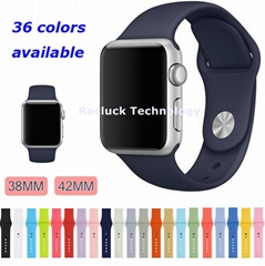 Apple watch wrist band silicone sport wristband for iwatch series