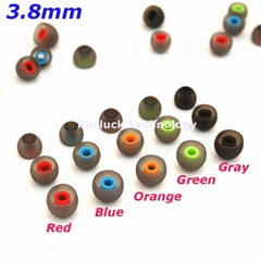 3.8mm Dual color silicone ear tips for