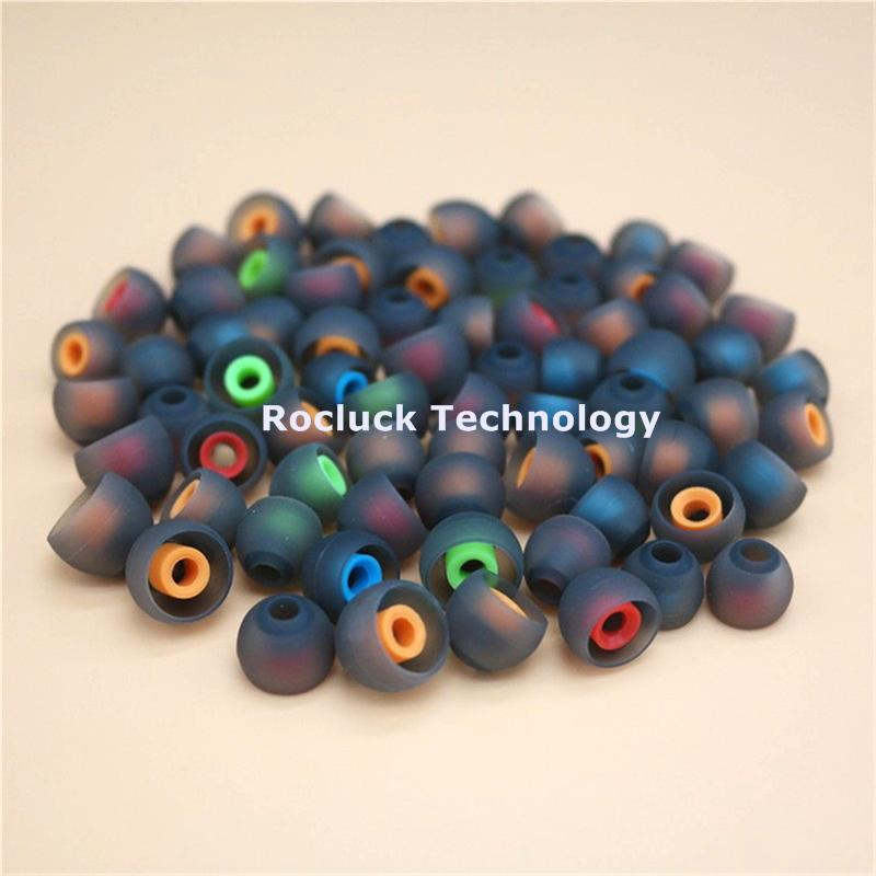3.8mm Dual color silicone ear tips for ibeats earphone  3