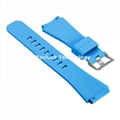 Silicone Watch Strap pure colors for  pebble watch 20mm 22mm