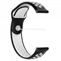 Dual Colorl Silicone Watch Band Watch Strap for 22mm Watch