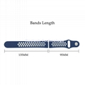 Dual Colorl Silicone Watch Strap for Pebble Watch 20mm 22mm
