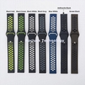 Dual ColorSilicone Watch Band Watch Strap for Garmin 20mm Watch