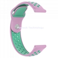 Dual Color Silicone  Watch Band for Moto Nokia 20mm Watch