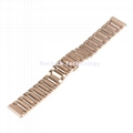 22mm width Stainless Steel Link Watch Band with Butterfly Buckle