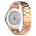 Stainless Steel Watch band with Connector Adaptor For Samsung Gear S2 R720 R730