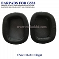Logitech G533 Ear Pads Ear Cushion Ear Cups Cover Earpads Repair Parts