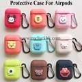 Apple AirPods Protective Case with Cute Cartoon Silicone Portable Case