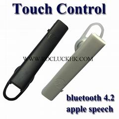 Touch Control bluetooth Headset Fingerprint touch support apple speech