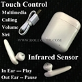 TWS Bluetooth Earphone Stereo Earbuds Multifuction Touch Key and Infrared Sensor