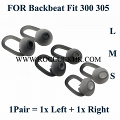 Plantronics Backbeat Fit 300 305 Earbuds Silicone Tips Ear Gels Ear Buds S/M/L  (Hot Product - 1*)