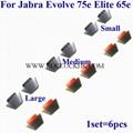 For Jabra Evolve 75e Elite 65e 45e Silicone Eargles Eargels Earbuds Eartips
