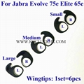 For Jabra Evolve 75e Elite 65e 45e Silicone Earwing Earhook Earloop Ear hooks