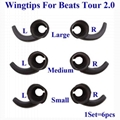 For Beats Tour 2.0 Tour 2 Silicone Wingtips Earhooks Replacement Wing Tips Hook