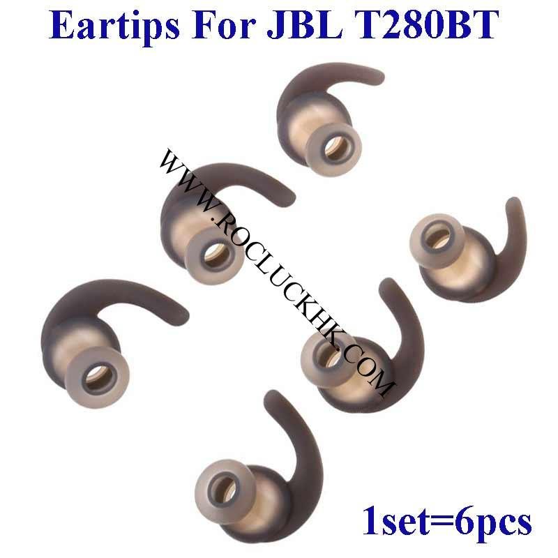 For JBL T280BT Silicone Eartips Earbuds Eargels Replacement Ear tips buds gels
