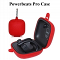 For Powerbeats Pro silicone storage case Anti-scratch carrying case wallet pouch