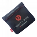 For Beats In-Ear Earphone Pocket Carrying Pouch Soft carry bag with Logo 3