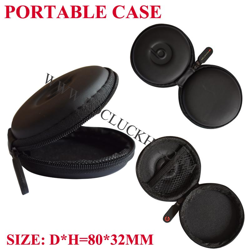 For Monster Beats in-ear Earphone Pocket Size Round Carrying Case Storage Pouch  5