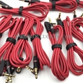 For Monster Beats Audio Cable male to male L Plug Studio Solo headphone