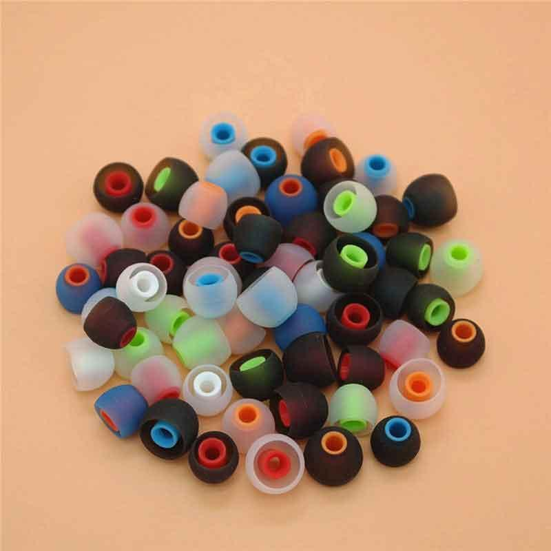 3.8mm Dual Color Twice Forming Bullet Shape Silicone Eartips Eargels 3