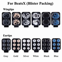 Wingtips and 4.0mm Eartips For Beatsx Silicone Earhook Ear Tips (Hot Product - 1*)