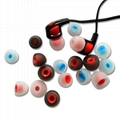 3.8mm Dual Color Eartips Silicone Single Forming Ear Tips 4