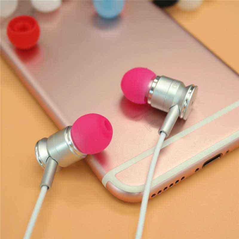 3.8mm Silicone Eartips Bullet Shape Ear Tips  5