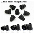 3.8mm Triple Flange Eartips For Beats Silicone Eargels