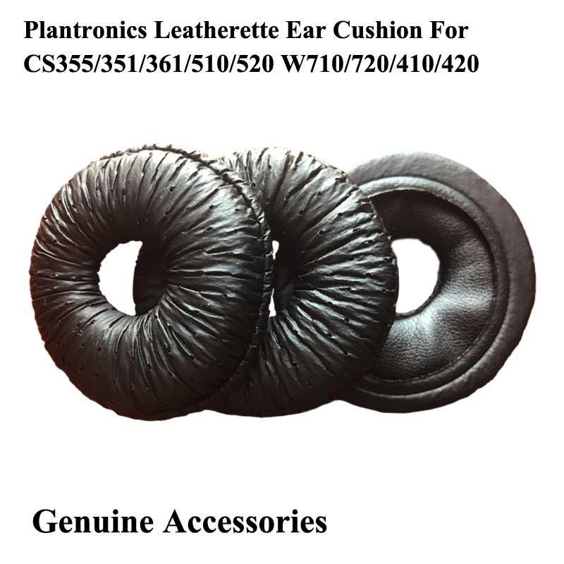 Leatherette Ear Cushions For  Plantronics CS351 CS351N CS361 CS361N CS510 CS520  1