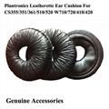 Leatherette Ear Cushions For  Plantronics CS351 CS351N CS361 CS361N CS510 CS520