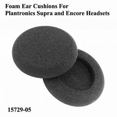 Foam Ear Cushions 15729-05 For Plantronics Supra and Encore Headsets