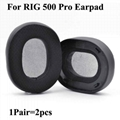 Leatherette Ear Cushions For Plantronics RIG 500 Pro
