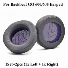 Leatherette Ear Cushions For Plantronics BackBeat GO 600 605