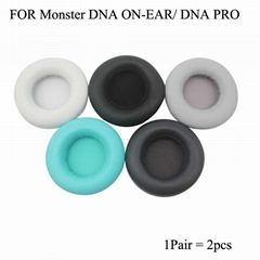Protein leather Ear Cushions For Monster DNA PRO ON-EAR Headphone