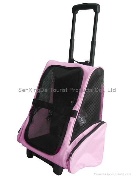 Deluxe Backpack Pet Carrier On Wheels 1