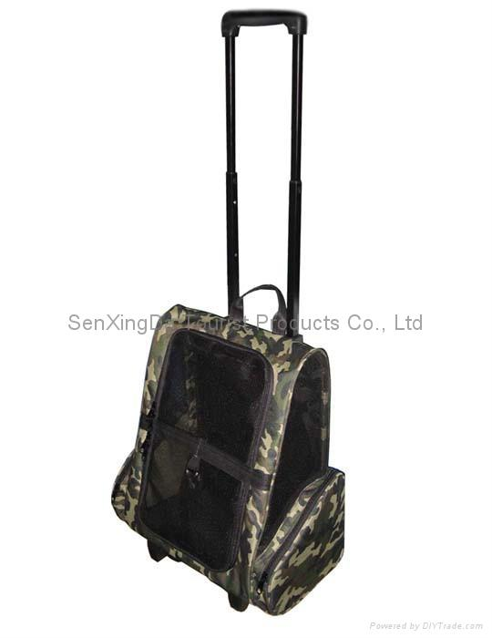 Deluxe Backpack Pet Carrier On Wheels 2