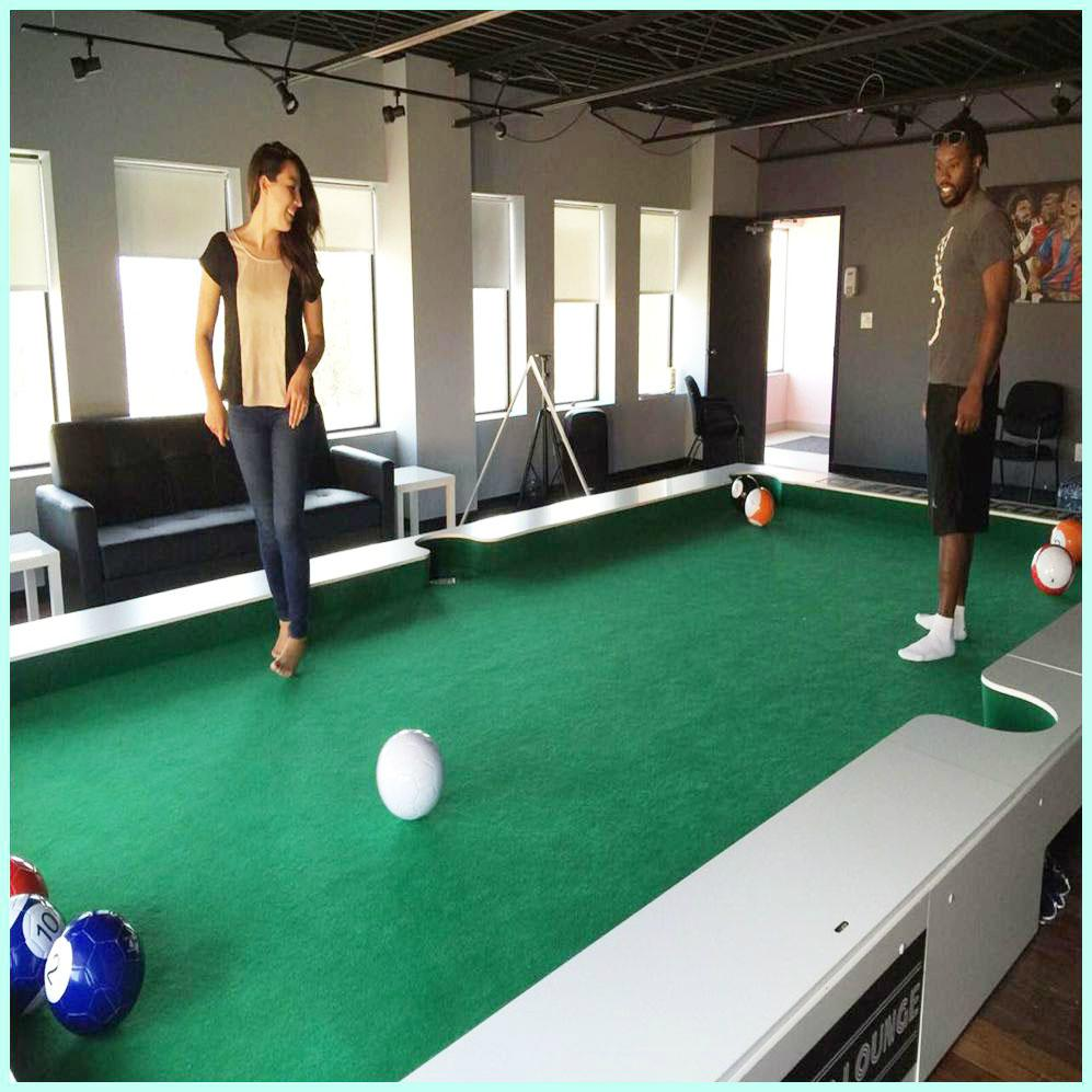 Fitness Equipment Advertisements: Soccer And Billiards Combo Snookball Game For Exercise