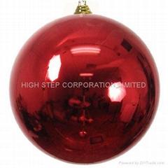 聖誕電鍍亮光球