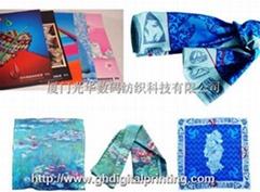 个性图案数码印花丝巾