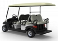 6 seater electric utility golf car with rear passenger seat