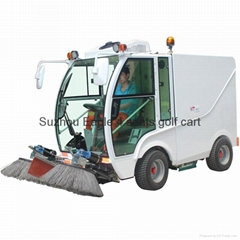 electric road sweeper for cleaning
