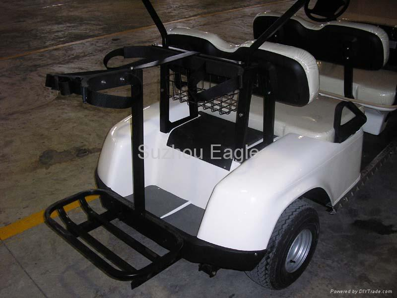 CE Approved Four Seater Electric Golf Cart with Four Golf Bag Holder