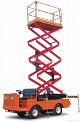 CE Approved Electric Scissor lifter Car