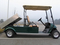 Electric Golf Car with Hydraulic Tipper