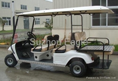 CE Approved 6 Seater Golf Car with Flip