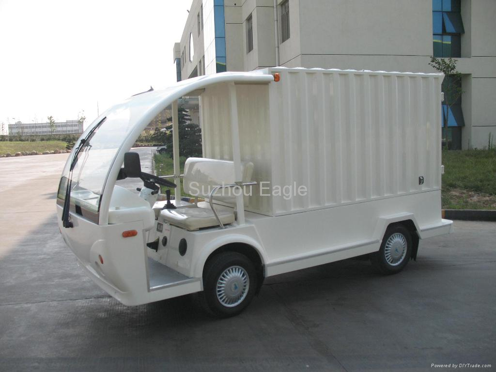 Electric Shuttle Bus with container box 1